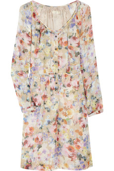 J.Crew floral-print chiffon dress