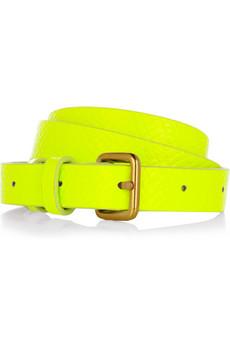 Marc by Marc Jacobs neon python-print belt