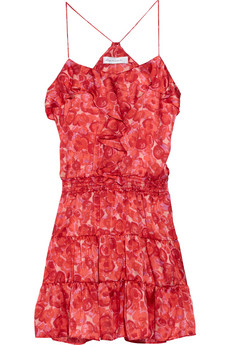 T-Bags blossom-print dress
