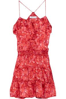 T-Bags blossom-print dress