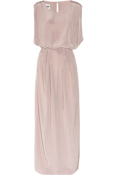 Acne washed-gorgette maxi