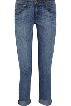 J Brand mini star cropped jeans