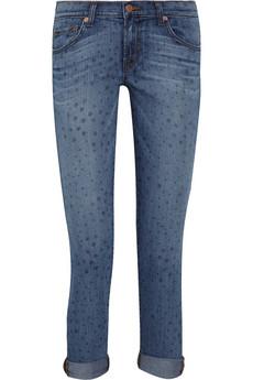J Brand mini star cropped jeans