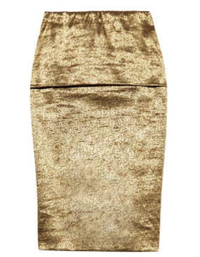 Donna Karan metallic pencil skirt