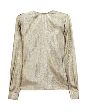 Stella McCartney metallic silk top